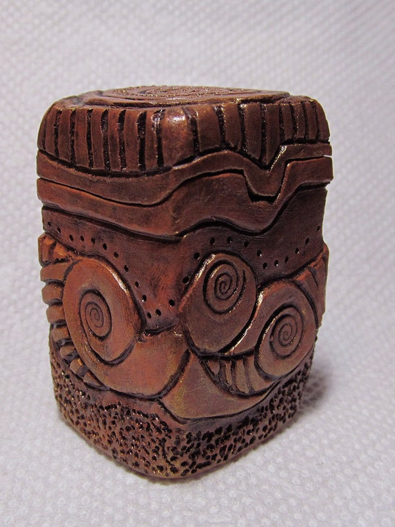 Little carved clay box