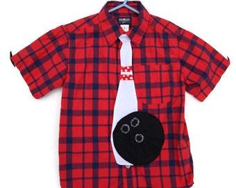 Kids Bowling Tie, Boys Tie, Bowling Pin Tie, Children's Tie, Custom MADE TO ORDER