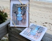Beach Themed Holiday Cards- Beach Stone Snowman, set of 8 fun beach rock cards, winter cards, beach Christmas Cards, holiday greeting cards