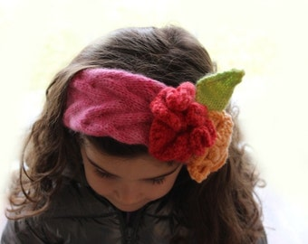 Knitting Pattern- Flower Headband knitting pattern