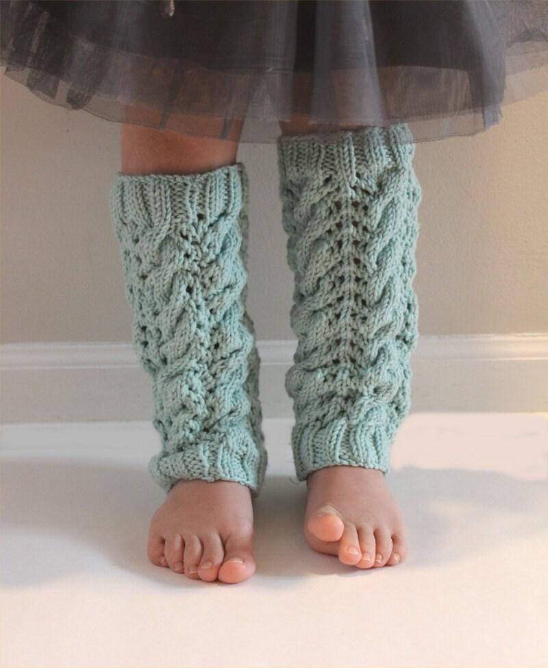 Knitting Pattern Leg Warmers Straight Needles : KNITTING PATTERN The Sofia Leg Warmers PDF knitting pattern