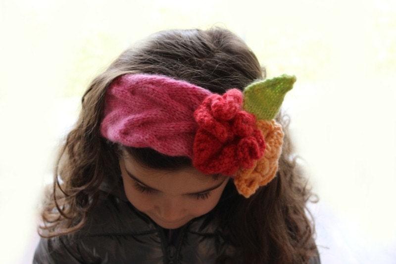 Knitting Pattern Flower Headband knitting by theknittingniche