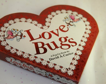 Vintage LOVE BUGS Pop Up book by David A Carter 1995 Sweetheart Book