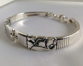 Spoon Bracelet. Morning Star 1948. Wrist Size 6 to 8. Choose Your Size. Vintage Silverplate.