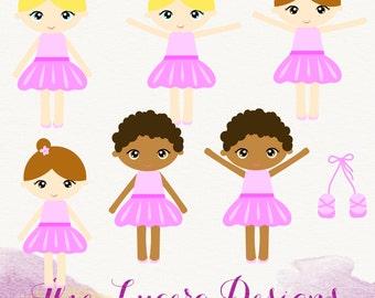 PNG Cute  Ballerina clip art / scrapbooking elements / graphic design
