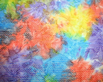 Timeless Treasures Multi-Colord Batik with Lots of DOTS