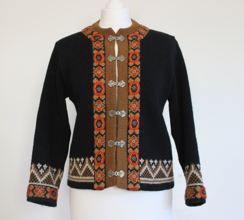 Norwegian knit sweater scandinavian design cardigan nordic