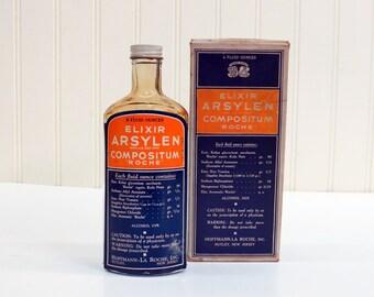 Roche Elixir Arsylen Compositum 1930s Laxative Medical Quackery