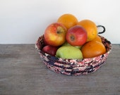 Fabric Rope Basket - Fruit Bowl - Rope Basket Organizer