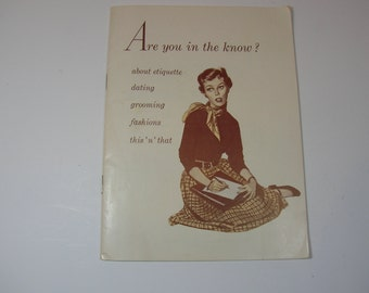 Dating In The 1950s Booklet Are You In The Know