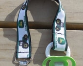 John Deere Pacifier Clip, Tractor Pacifier Holder, John Deere Binky Clip, Little Boys Pacifier Clip or Toy Clip, Shower Gift