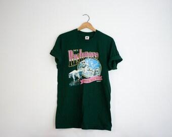 Vintage Mt Rushmore South Dakota Screen Print T Shirt with Mountain Goat
