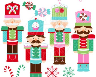 Nutcracker Cute Digital Clipart for Commercial or Personal Use, Christmas Clipart, Christmas Graphics, Nutcracker Clipart