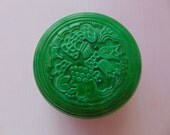 Vintage Genuine art deco Malachite Trinket Box