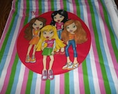 Pillow Panels Lil Bratz Quilt Squares Fabric One Yard