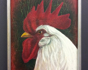 Little Red Rooster Painting