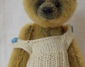 Vest knitting pattern for a miniature teddy bear e-pattern
