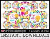 """Egg Hunt - INSTANT DOWNLOAD 1"""" Bottle Cap Images 4x6 - 624"""