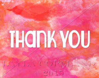 Watercolor Thank You card