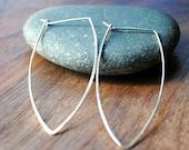Dagger Hoop Earrings - Silver