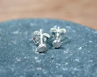 Sterling Silver stud earrings - Polka Dot Studs
