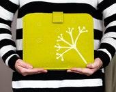 Felt iPad case - iPad cover wool felt, hand printed