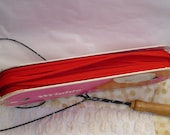 Red Piping Trim,  Vintage Piping Yardage 1950 or 1960