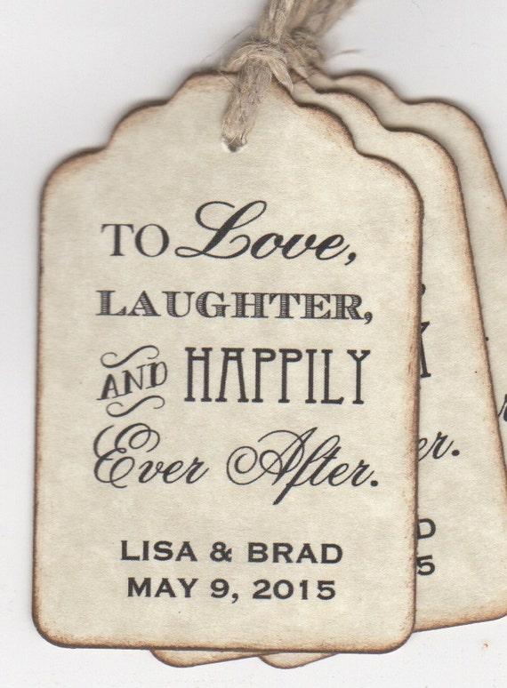 Wedding Favor Tags Sayings : 100 Wedding Favor Tags, Shower Favor Tags, Place Card Escort Tags, To ...