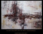 """Modern Contemporary Abstract """"Red Wine """" 48""""x34"""" by Paul Juszkiewicz"""