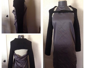Ready to ship-Medieval go-go dress sample garment jacket sold separately grey