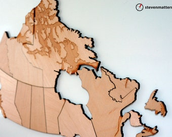 Canada Map Puzzle - Birch Plywood