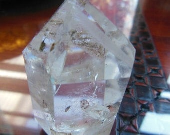 Beautiful Rainbow Phantom Quartz Crystal Point Healing Reiki no17B