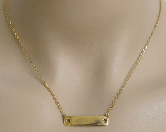 gold necklace, bar necklace, gold bar necklace, simple bar, minimalist necklace, layering necklace, thin necklace, geometric necklace