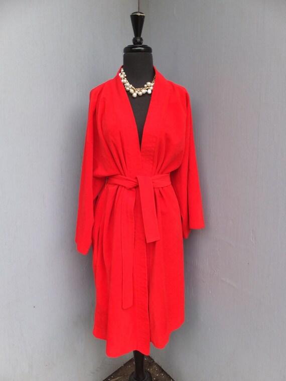 Vintage Vanity Fair Red Velour Robe Large By Sweetdrawers