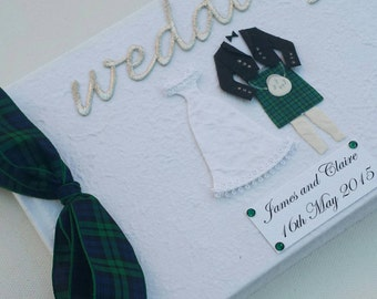 Scottish Wedding Guest Book - Your clan Tartan