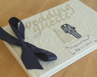 Custom Personalized  Classic Wedding Guest Book