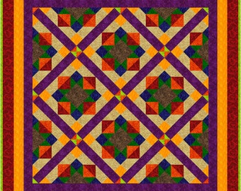 """NEW - TUTTI FRUTTI - 52.5"""" x 52.5"""" - Quilt Addicts Precut Quilt Kit or Finished Quilt Lap size"""