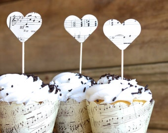 Music Paper Cupcake Wrappers