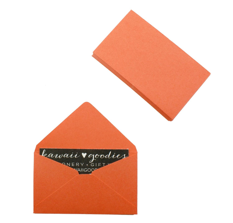 Business card envelopes 25 orange envelopes 2 1 8 x 3 5 8