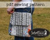 Varsity Messenger - cross body bag purse sewing pattern - PDF INSTANT DOWNLOAD