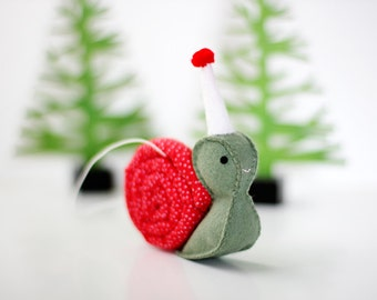 Snail Ornament, Christmas Tree Ornaments, Christmas Ornament, Animal Ornament, ready to ship, ready-to-ship, gift for her, hostess gift