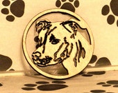 English Staffordshire Terrier Pit Bull Ornament Wood Fretwork Handmade by dogWood by Dave on Etsy
