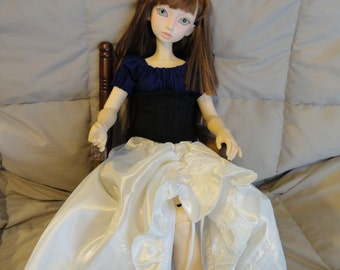 SD BJD Dollfie  Theatre Skirt Off White