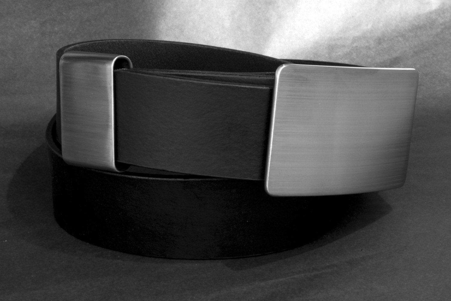 Men S Accessories Silver Brushed Stainless Steel Belt