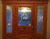 CUSTOM Sidelight Stained Glass Panel - Victoran Style Sidelights