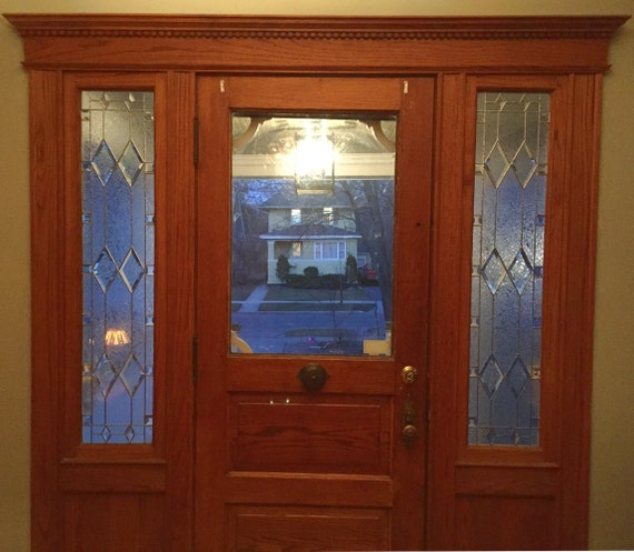 custom sidelight stained glass panel   victoran style sidelights