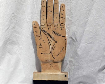 Palmistry Hand Wood Sculpture