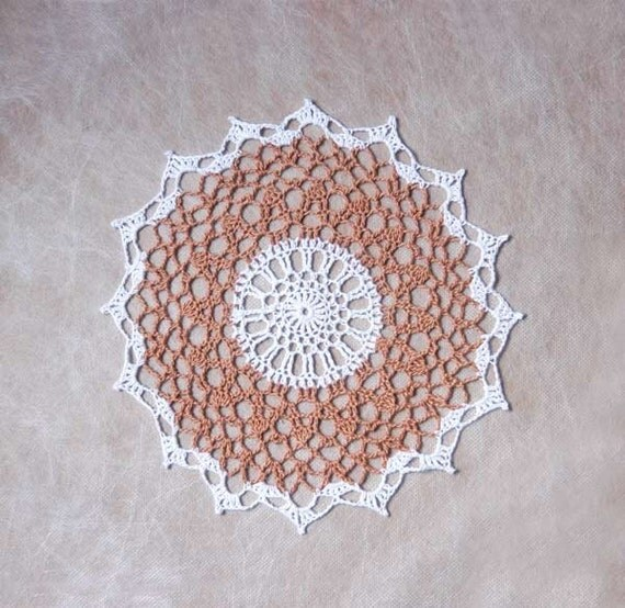 Rustic modern lace crochet doily home decor light by for Lace home decor