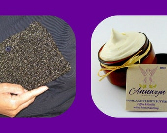 Beautiful Gift / Glitter Evening Purse and Organic Body Butter Beauty Concentrate by Annwyn Organic