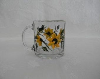 Hand painted mug, painted mug with Sunflowers, Sunflowers, coffee mug, Tea mug
